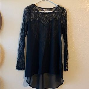 Tops - Black lace tunic